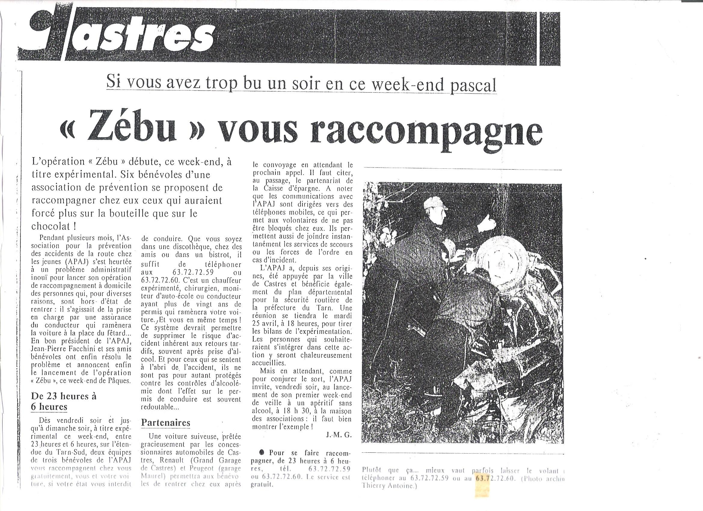 DEBUT ZEBU 93